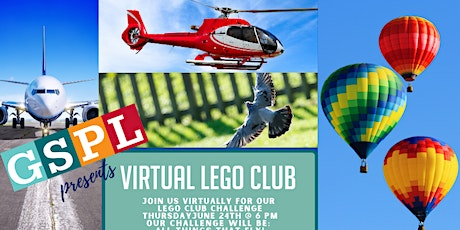 Virtual Lego Club- June All things that fly! tickets