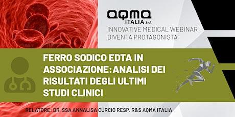 Ferro sodico EDTA in associazione: risultati degli ultimi studi clinici biglietti