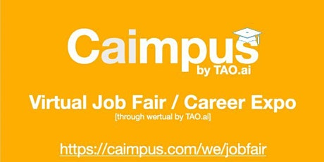 #Caimpus Virtual Job Fair/Career Expo #College #University Event#SLC tickets