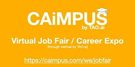 #Caimpus Virtual Job Fair/Career Expo #College #University Event#SFO tickets