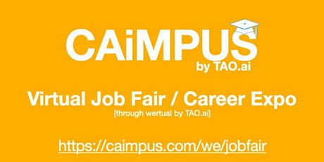 #Caimpus Virtual Job Fair/Career Expo #College #University Event#Boston tickets
