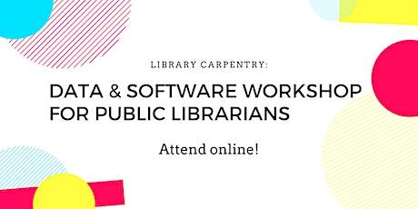 Data & Software Workshop for Public Librarians tickets