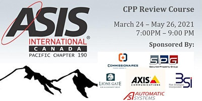 CPP Review Course  by ASIS Canadian Chapter 190