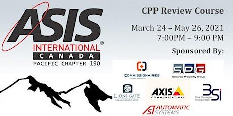 CPP Review Course  by ASIS Canadian Chapter 190 tickets