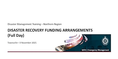 DM Training - Disaster Recovery Funding Arrangements - Full Day tickets