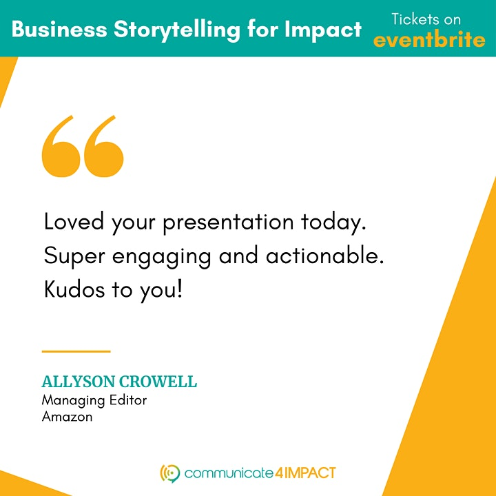 Business Storytelling for Impact ∣ Live Virtual Training image
