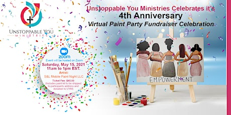Unstoppable You Ministries, Inc. Virtual Paint Party Fundraiser Celebration tickets