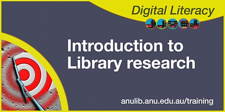 Introduction to Library research webinar tickets