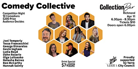 Comedy Collective Comp 2 - April 11 @ the Collection Bar tickets