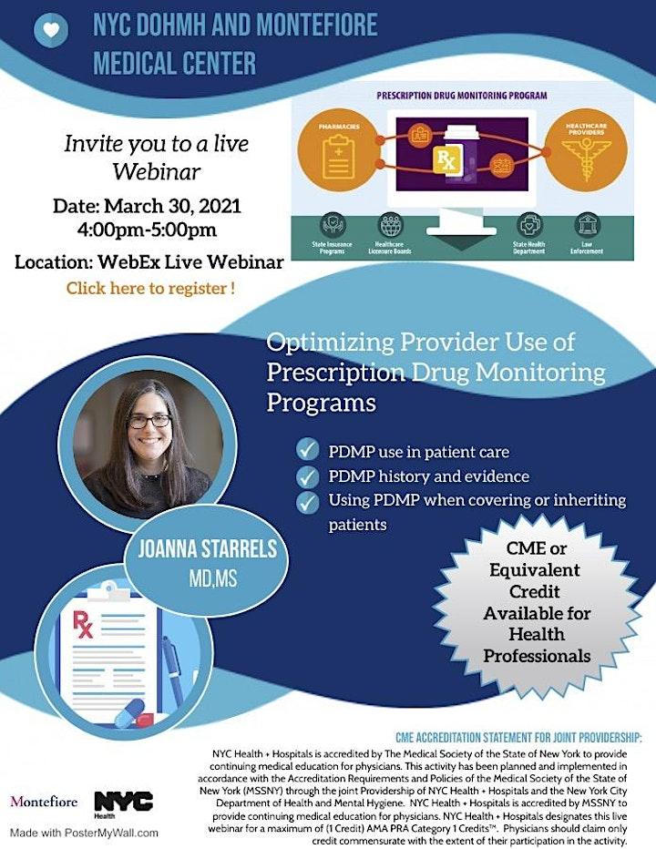 Optimizing Provider Use of Prescription Monitoring Programs--OD2A Webinar 1 image