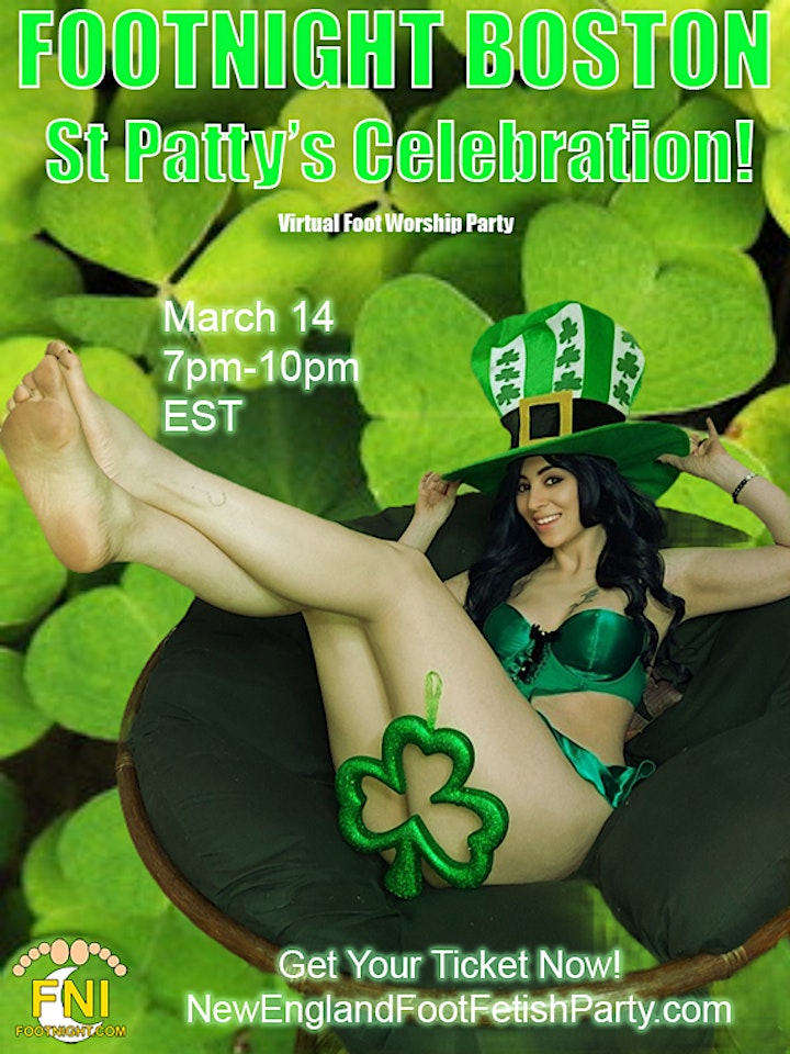 St. Patty's Foot Worship Party!!  *Virtual* image