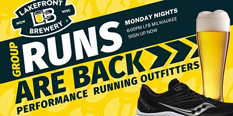 RUNS ARE BACK! Lakefront Brewery Fun Run with Saucony tickets