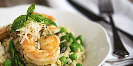 Shrimp  Risotto  with Fresh Herbs and Asparagus tickets
