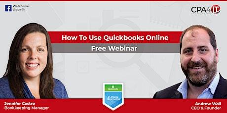 QBO Bookkeeping Webinar tickets