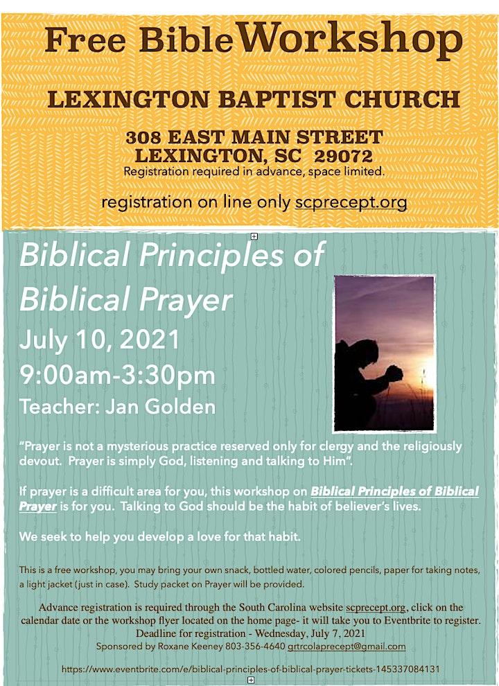 Biblical Principles of Biblical Prayer image