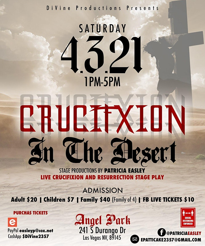 """Live Stage Play """"Crucifixion in the Desert"""" image"""