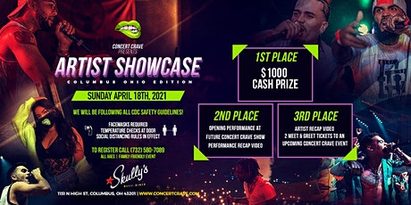 Concert Crave Artist Showcase - Columbus, OH 4.18.21 tickets