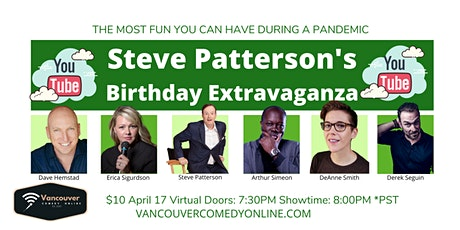 STEVE PATTERSON'S BIRTHDAY EXTRAVAGANZA SHOW - YOUTUBE STREAM tickets