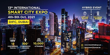 13th International Smart City Expo 2021, Dubai - Virtual Sponsors tickets