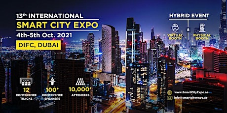13th International Smart City Expo 2021, Dubai - Integrated Sponsorships tickets