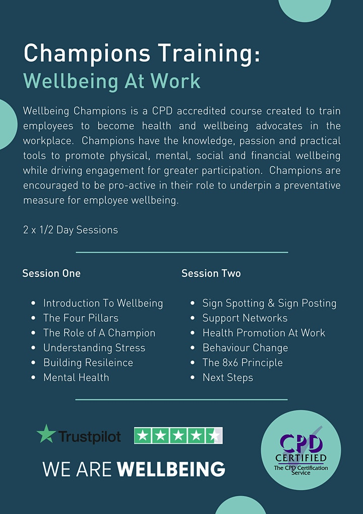 Champions Training: Wellbeing At Work image