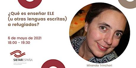 Webinar para promover la formación intercultural: Miranda Trincheri entradas