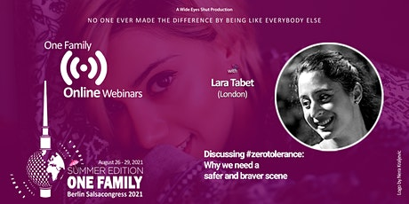 """Webinar """"Discussing #zerotolerance. Why we need a safer and braver scene"""" entradas"""