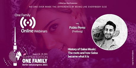 BSC Webinar History of Salsa Music tickets
