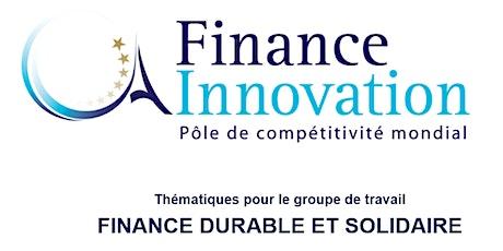Groupe de travail Finance Durable et Solidaire billets