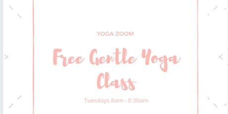 Free Gentle Yoga Class Via ZOOM tickets