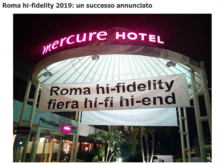 Immagine Roma hi-fidelity 2021, la rassegna più importante hi-end, FREE ENTRY