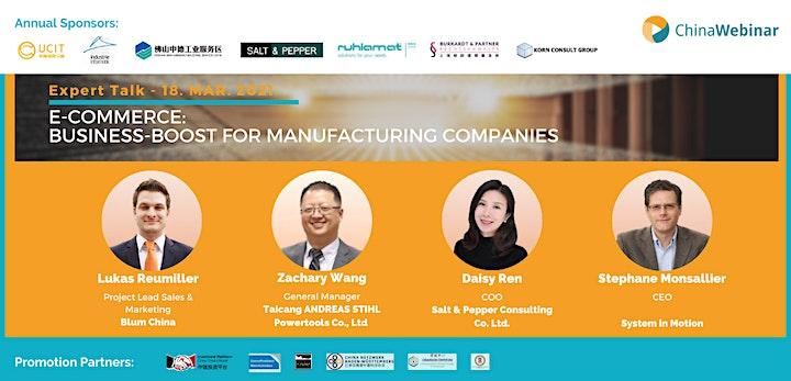 "Expert Talk "" E-Commerce: Business-Boost for manufacturing companies "": Bild"