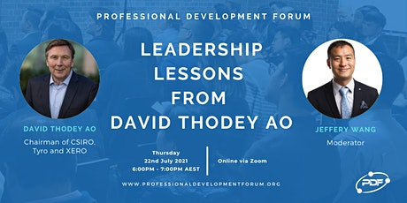 Leadership Lessons From David Thodey AO tickets