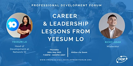 Career & Leadership Lessons from Yeesum Lo tickets