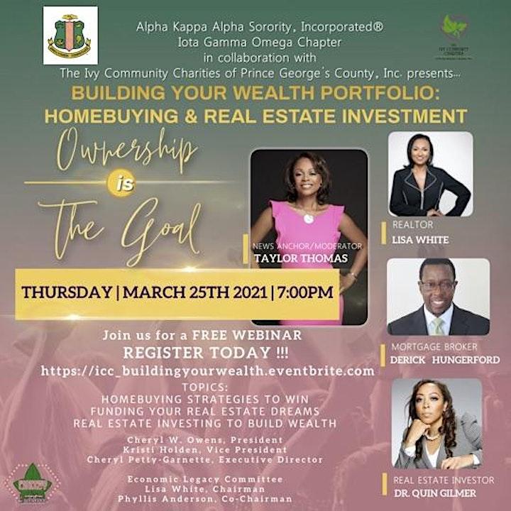 Building Your Wealth Portfolio: Homebuying & Real Estate Investing image