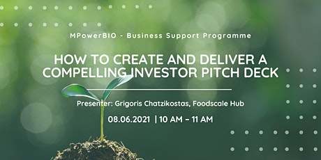 MPowerBIO BSP - How To Create and Deliver a Compelling Investor Pitch Deck tickets