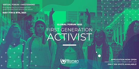 FIRST GENERATION ACTIVIST : WOMEN AMBASSADORS GLOBAL FORUM tickets