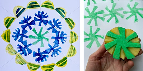 Virtual Art Workshop - Potato Print: printed mandala with Karin Mansberg tickets