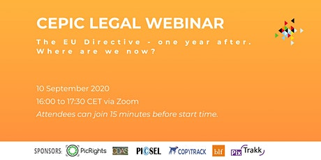 Recording of CEPIC Legal Webinar tickets