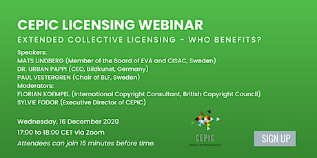 Recording of CEPIC Licensing Webinar tickets