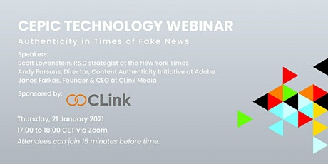 Recording of CEPIC Technology Webinar tickets