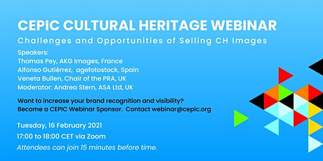 Recording of CEPIC Cultural Heritage Webinar tickets