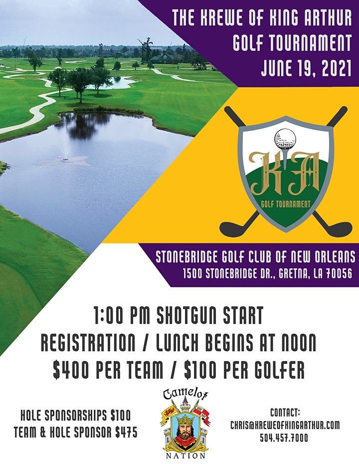 The Krewe of King Arthur Golf Tournament image