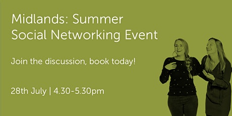 M280721 Midlands: Summer Social Networking Event tickets