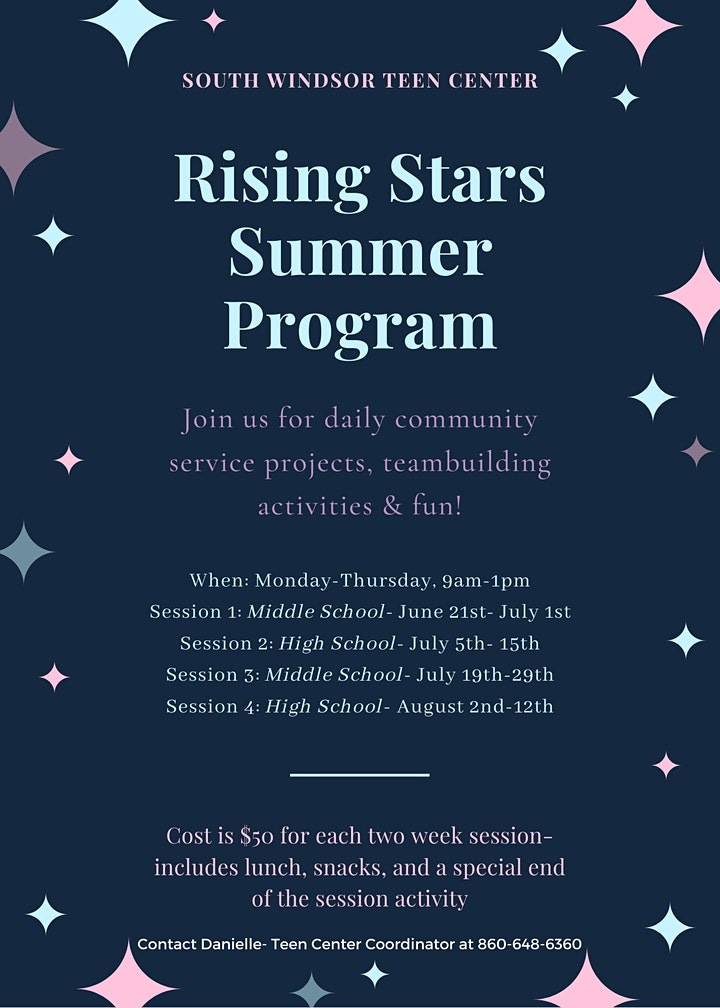 Rising Stars Summer Program- Middle School-Session 1 image