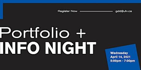 Graphic and Digital Design Portfolio + Info Night tickets