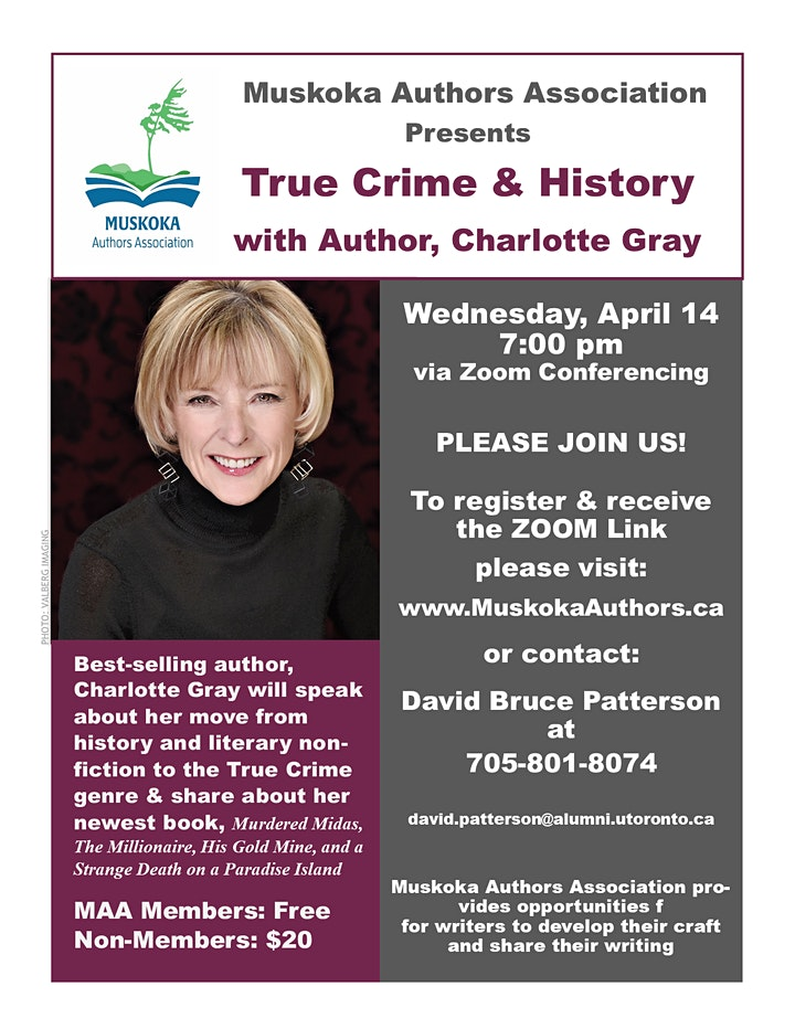 True Crime & History With Best-Selling Author, Charlotte Gray image
