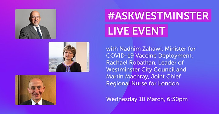 #AskWestminster Live Event with Nadhim Zahawi MP image