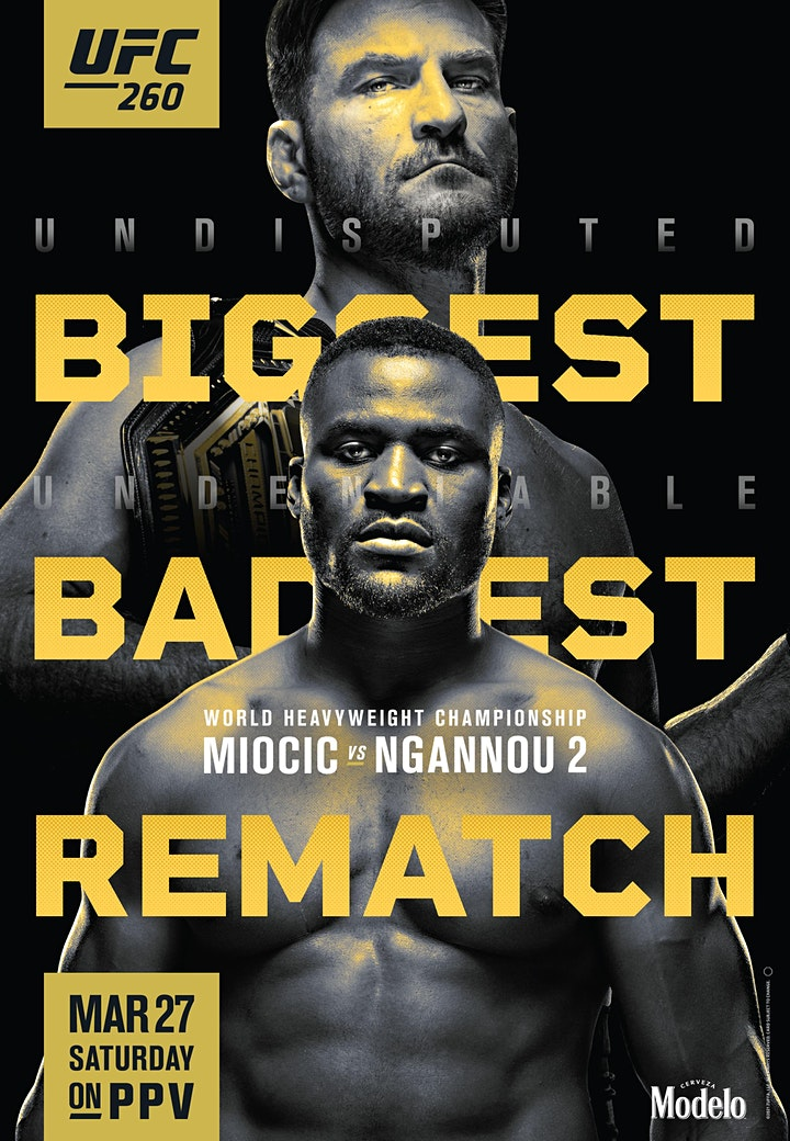 UFC 260 Viewing Party Miocic vs. Ngannou 2 at Mac's Wood Grilled image