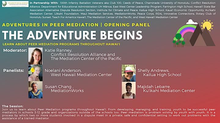 Adventures in Peer Mediation | The Adventure Begins | Opening Panel image